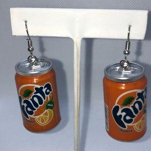 Fanta soda can fun earrings